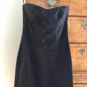 Vintage Trina Turk Black Strapless Dress